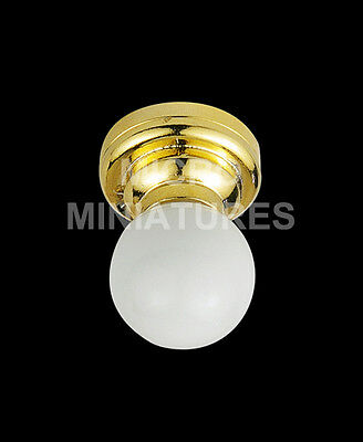 1/12th Scale Dolls House Ceiling Globe Light