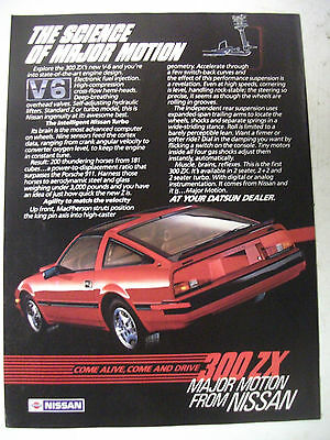 1984 Nissan 300Zx Turbo Major Motion Usa Magazine Fullpage Colour Advertisement