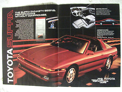 1986 Toyota Supra Usa Magazine Colour Centrespread Advertisement