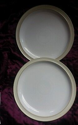 Denby Linen dinner plates 10.25 inches x 2