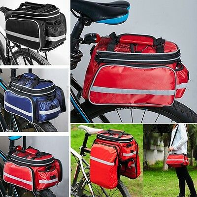 UK Waterproof Bicycle Pannier Seat Bike Cycling Rear Tail Rack Storage Pouch Bag