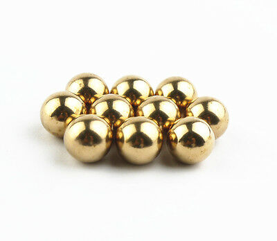 LIEOMO 10Pcs 1/2Inch Precision Solid brass Bearing Balls