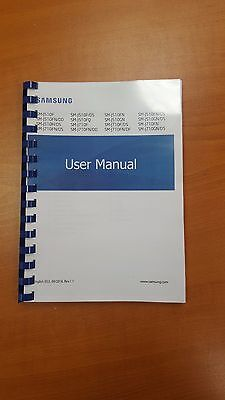 Samsung Galaxy J510F/j710F Printed Instruction Manualuser Guide 109 Pages A5