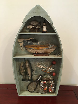 Vintage Row Boat/Dinghy/Nautical Decorative Shelf Display