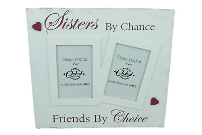 Twin Photo Frame Sisters By Chance Friends By Choice Wooden 4 x 6 Large F1438B