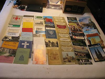 Large lot of 57 Souvenir Booklets from English Churches and Cathedrals