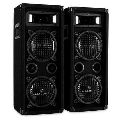"1200W Karaoke Party Pa Speakers 3-Way 6.5"" Sub Floor Standing Event Speaker"