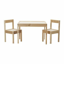 LÄTT Children's table with 2 chairs White/pine - IKEA - Brand New