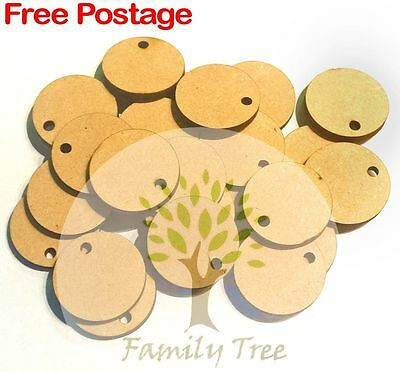 MDF WOODEN CIRCLE SHAPES 25mm, 50mm, 75mm, 100mm x 3mm - UNLIMITED QUANTITIES