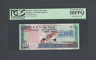 Mauritius 50 Rupees ND(1985) P37bs Specimen TDLR N2 About Uncirculated