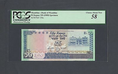 Mauritius 50 Rupees ND(1985) P37bs Proof  About Uncirculated