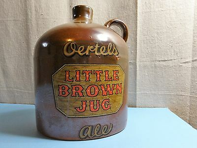 Oertels Little Brown Jug Ale with Cork in Very Good Condition - NO RESERVE