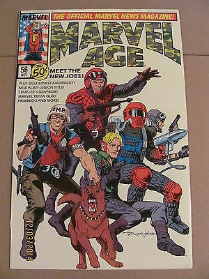 Marvel Age #56 The Official Marvel News Magazine GI Joe Preview 1987