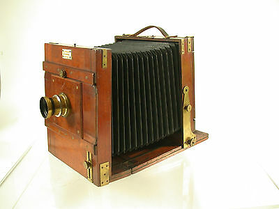 13x18 horizontal antique wooden camera Roja Busch Aplanat film holder /17