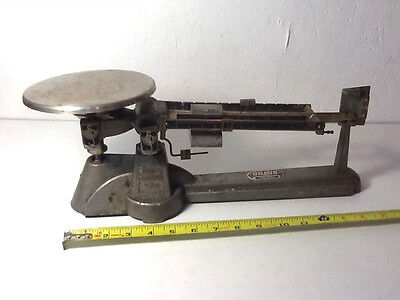 Vintage Ohaus Triple Beam Balance Scale Made in U.S.A. with orig. Box & weights