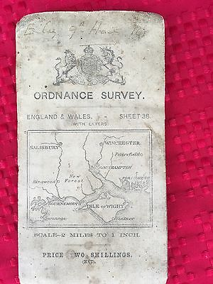 UK England Vintage 1908 Ordinance Survey Offices Topological And Road Map #38