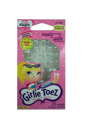 Fingrs Girls Girlie Toes Toe  Nail French Glitter  Tip 31169 Nails Clear Star