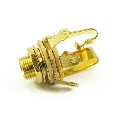 "Switchcraft 1/4"" Jack Socket Stereo Gold"