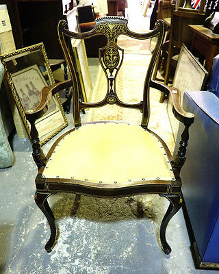 Antique inlaid chair