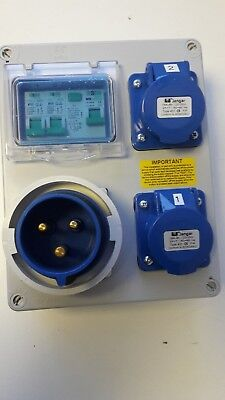 Caravan,Camping,Hook Up,RCD Industrial Socket. Portable event distribution board