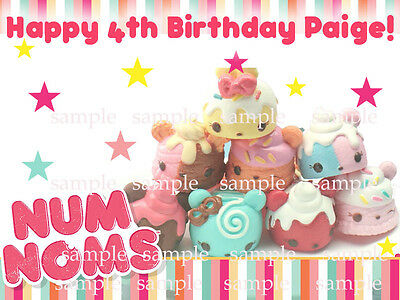 NUM Noms Edible Photo CAKE Image Icing Topper Decoration FREE SHIPPING
