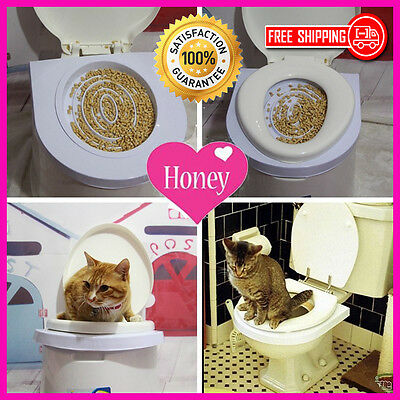 Cat Toilet Mat Training Plastic Easy to Learn Litter Tray Kitten Train -Freeship