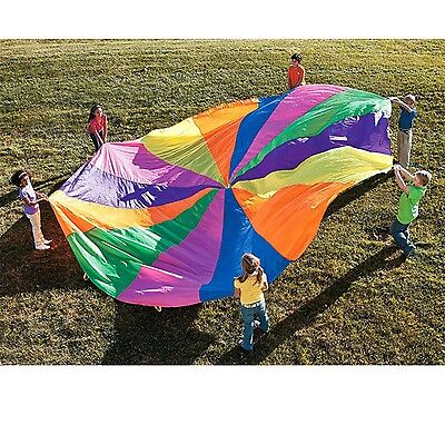 Outdoor Sport Toy Kids Play Rainbow Outdoor Parachute Multicolor Nylon Kids Toy