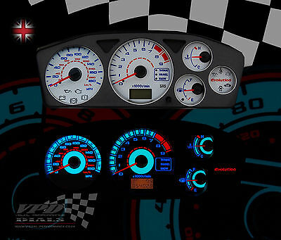 Mitsubishi Evo 7-8-9 speedo clock dash interior lighting bulb upgrade dial kit