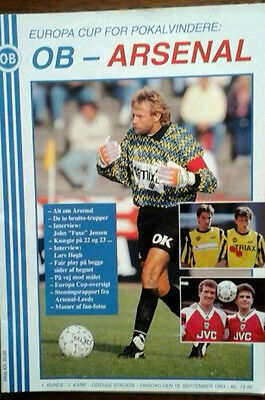 Odense V Arsenal 15/9/1993 European Cup Winners Cup