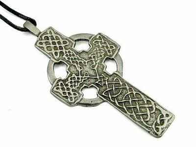 Celtic Cross Pendant on Cord Necklace #NI-LOG-521