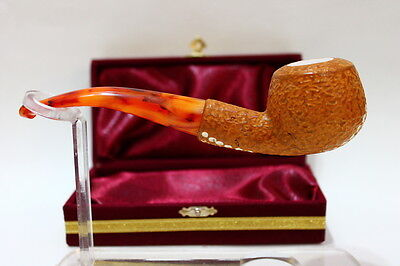 Rustic Apple Meerschaum Smoking Pipe Handmade Double Waxed With BeesWax W/Case