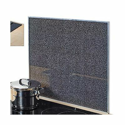 Zeller Granite 26281 Hob Cover / Cover Plate - Glass - Charcoal Grey