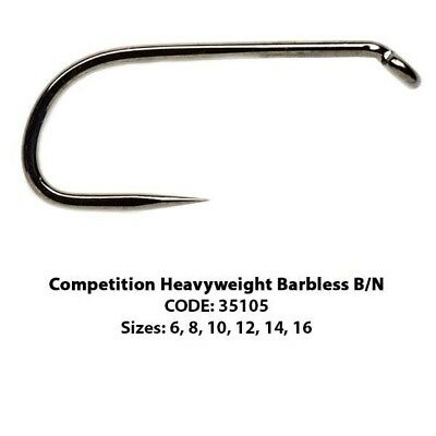 Fulling Mill BARBLESS Black Competition Heavyweight Hooks * FM-5105 * 2019 Stock