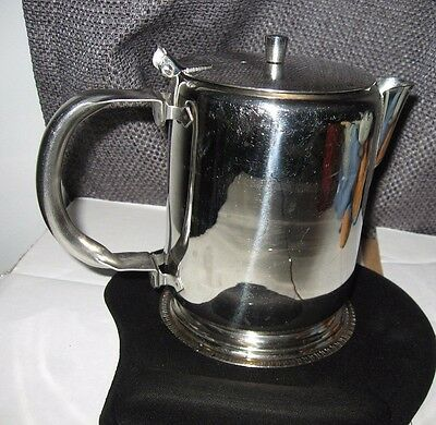 Small VINTAGE JR stainless steel tea coffee pot camp stove flip open lid 3 cups