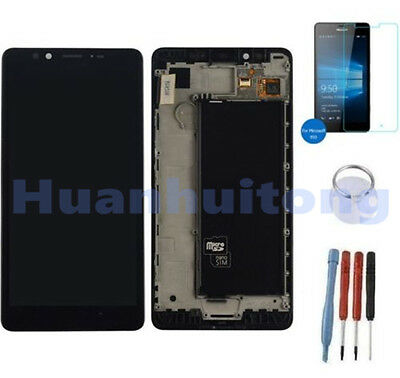 For NOKIA LUMIA 950 LCD Display Touch Screen Digitizer Glass Assembly With Frame