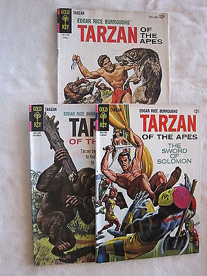 Tarzan, Lot of Three, #144, 145 & 148, Silver Age, Gold Key. GREAT PRICE.