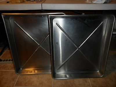 """Vintage Wilpac Stainless Steel Developing Trays - 21"""" x 25"""" - Lot of 2"""