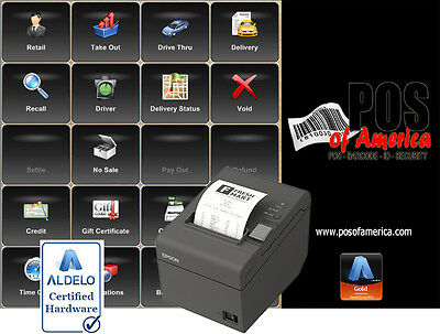 ALDELO PRO SOFTWARE FOR RESTAURANTS POS SOFTWARE - PRO Version with Printer NEW