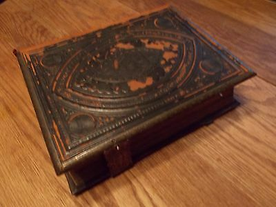 Leather bound Bible Brown's Self-Interpreting Antique Bible  Circa 1860-70