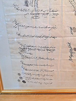 Amazing Antique Persian Calligraphy  w/0 the frame.