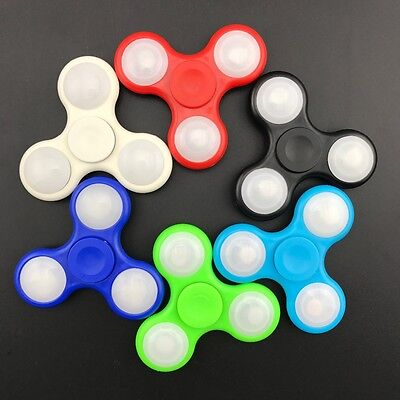 Tri-Spinner Fidget Toy LED Light Hand Spinner Anxiety Stress Relief Toys - UK