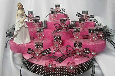 Sweet 16 Figurine Centerpiece with Candle Holders Table Cake Decoration Choose