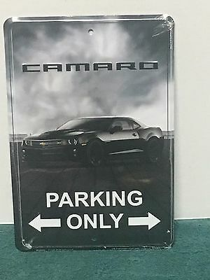 """Camaro Parking Only""  8"" x 12"" Metal Embossed Sign Chevrolet Camaro ~~~#A18"