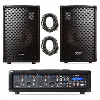 Alesis P.a. System In A Box - 2 Speakers + Mixers + Cables