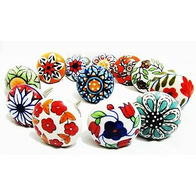 Handmade Ceramic Knobs Cupboard Cabinet Door Knob Kitchen Drawer Pull Handle #