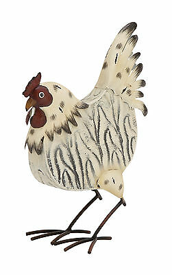 """GwG Outlet Metal Rooster Statue 9""""W, 13""""H 85442"""