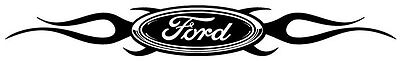 Ford symbol flames fire hot fast car brand muscle design vinyl decal sticker