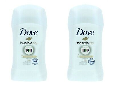 2 X Dove Stick 40Ml Invisible  Dry Antiperspirant Deodorant 48H Protection