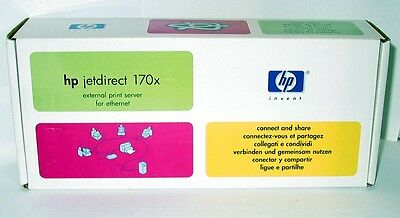 HP Jetdirect 170x External Print Server for Ethernet 10Base-T Networks (New-Read