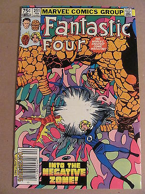 Fantastic Four #251 Marvel Comics 1961 Series Newsstand Edition